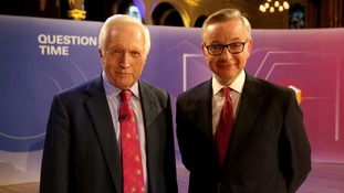 Michael Gove (R) with David Dimbleby