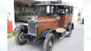 Rare 1920s taxi goes under the hammer - and it has an explosive past