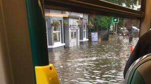 Flooding at the Grosvenor Pub in Nottingham