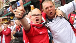 Battle of Britain: Fans gear up for England to take on Wales at Euro 2016