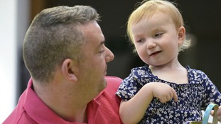 Martin Rackley, 38, and his daughter, Ruby