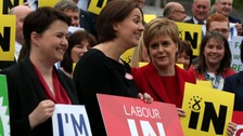 Scottish Conservative leader Ruth Davidson, Scottish Labour leader Kezia Dugdale and SNP leader and First Minister Nicola Sturgeon