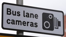 Bus lane cameras sign