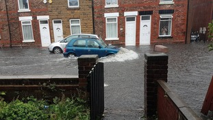 extreme weather causes flooding in st helens granada. Black Bedroom Furniture Sets. Home Design Ideas