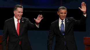 Barack Obama and Mitt Romney US election