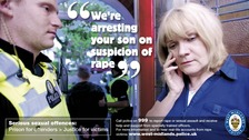 Advert launched by West Midlands Police to tackle rape crimes