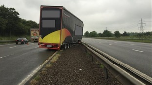 Photos of M69 lorry crash in Leicestershire