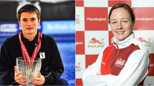 Daniel Goodfellow (left) and Rebecca Gallantree (right) are heading to this summer's Olympics.