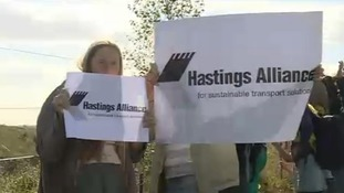 Hastings Alliance protest