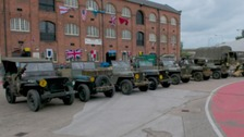 Some of the WWII military vehicles that will be on display