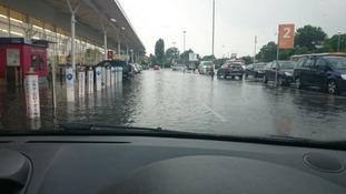 Tesco flooding in Toton