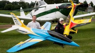 Pilots Andy Johnstone and Tristan Stirling