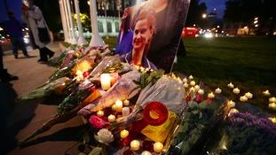 Tributes at Parliament Square