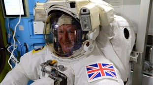Tim Peake gets ready to return to Earth from space