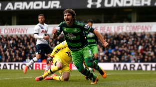 One of Alberto Paloschi's two goals for Swansea came at White Hart Lane against Tottenham.