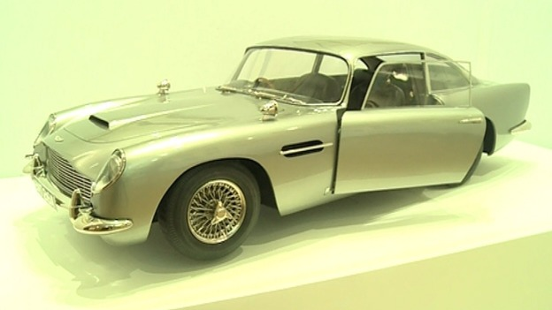A post-production 1/3 scale replica miniature model of the Aston Martin DB5 used in Skyfall.