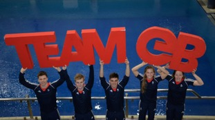 Members of the Great Britain Olympic Diving squad.