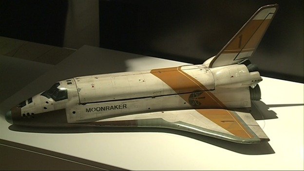 A highly detailed scale model of the space shuttle Moonraker.