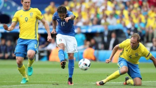 Italian striker Eder settled the game late on with a fine finish after a driving run at the Swedish defence.