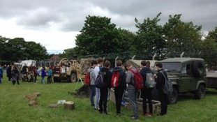 Hundreds of school children at Armed Forces Day event