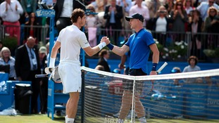 Kyle Edmund runs Andy Murray close but bows out of Queen's