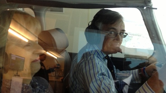 Gerald Howarth MP in plane
