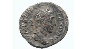 A silver denarius.