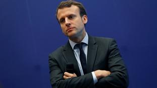 France's economy minister Emmanuel Macron.