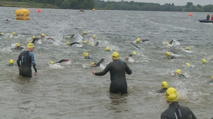 Thousands of swimmers have taken to the waters in Suffolk for the Great East Swim