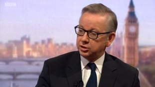 Michael Gove said he thought the message of the poster was 'wrong'