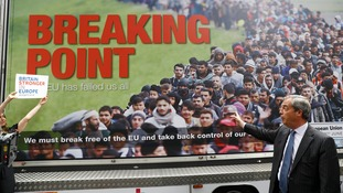Farage heavily criticised over 'vile' migrant poster