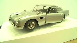 A 1/3 scale replica miniature of the Aston Martin used in Skyfall