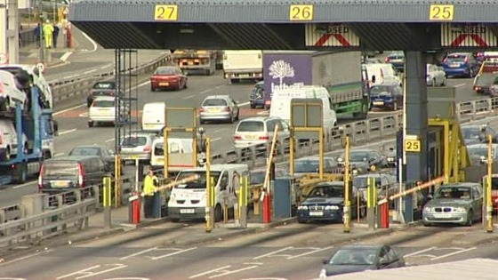 Toll booths at the Dartford Crossing.