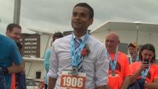 Running groom Abir Ali