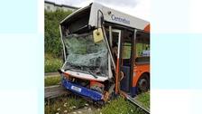 Fifteen passengers taken to hospital after Luton bus crash
