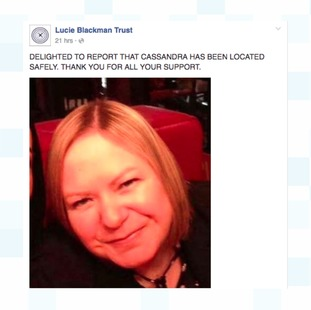 An update posted from the Lucie Blackman Trust on their Facebook page