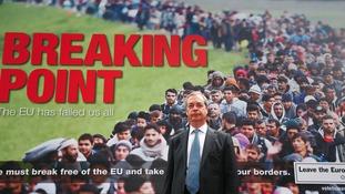 Nigel Farage unveiled the poster last week