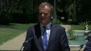 Donald Tusk urged Britain to stay in the EU.