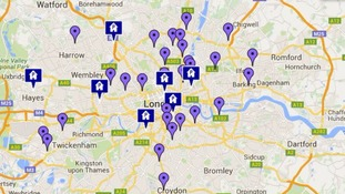 Police release map of bins where blades and weapons can be handed over as Met launches campaign to target knife crime