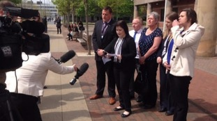 Vix Cooper reads out a statement at the end of his murder trial