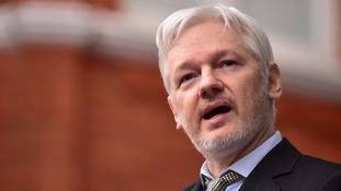 Assange is wanted by Sweden for questioning over an alleged sex offence