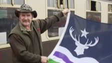 Johnny Kingdom at the unveiling of the Exmoor Flag in 2014