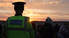 Policeman at Stonehenge