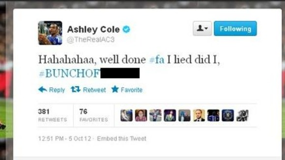 Ashley Cole's outburst at the FA