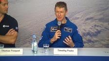 Tim Peake speaks in Cologne.