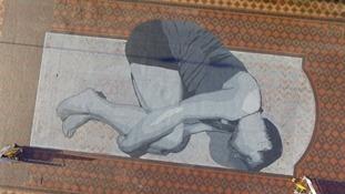 Giant work of art revealed in Birmingham City Centre