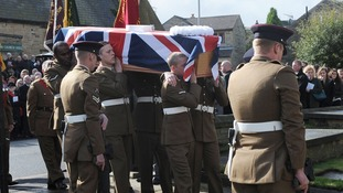 Pvt Thomas Wroe's coffin