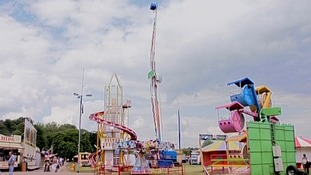 Fairground rides were banned after a woman was injured in a bonfire night event.
