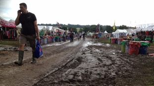 Pictures: Glastonbury in the mud