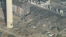 Collapsed building at Didcot A